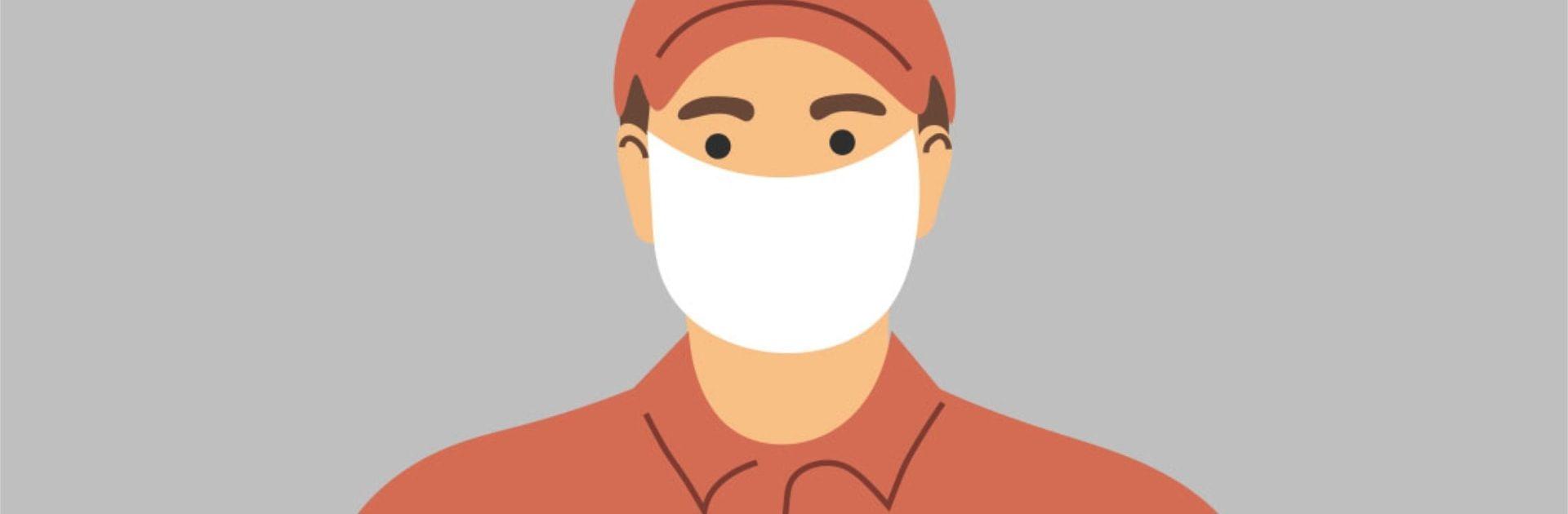 Mund-Nase-Bedeckungen in Zeiten von Corona